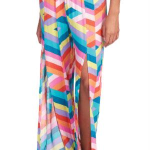 front slit multicolor pants