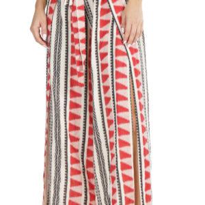 Pantalón con print azteca